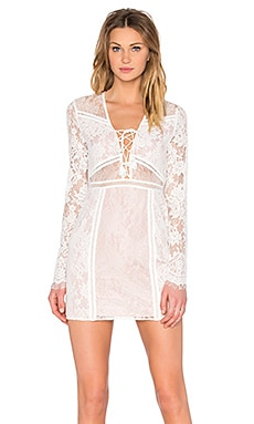 THE JETSET DIARIES Caribbean Mini Dress in Ivory