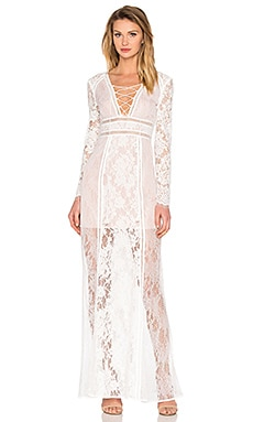 THE JETSET DIARIES Caribbean Maxi Dress in Ivory