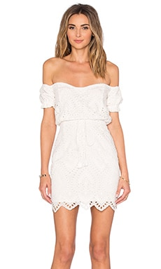 Santa Fe Mini Dress in Ivory