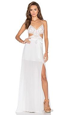 THE JETSET DIARIES x Revolve Goddess Maxi Dress in Ivory