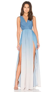 THE JETSET DIARIES x Revolve Caribbean Ombre Maxi Dress in Blue & Ivory