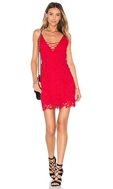 THE JETSET DIARIES Private Beach Mini Dress in Crimson
