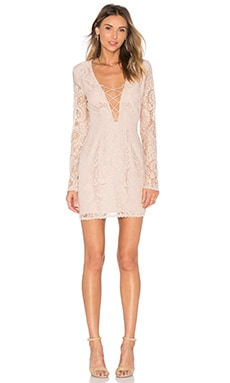 THE JETSET DIARIES Resort Mini Dress in Nude