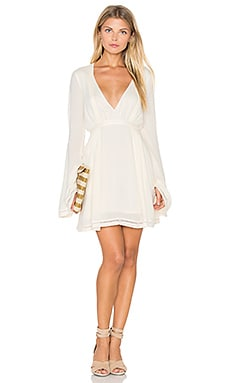 THE JETSET DIARIES Empire Mini Dress in Pearl