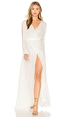 THE JETSET DIARIES La Isla Maxi Dress in Ivory