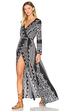 THE JETSET DIARIES Las Estrellas Maxi Dress in Estrellas Print