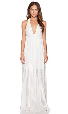 THE JETSET DIARIES North of Fira Maxi Dress in White