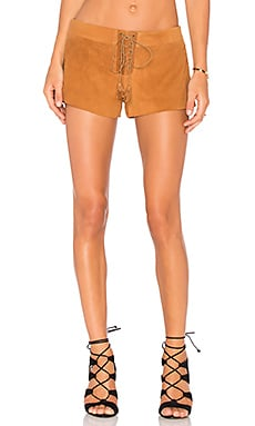 THE JETSET DIARIES Hazan Suede Short in Camel