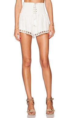 THE JETSET DIARIES Lady In White Short in White