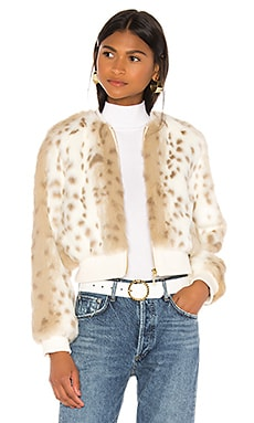 Love Me Faux Fur Bomber Jacket THE JETSET DIARIES $185