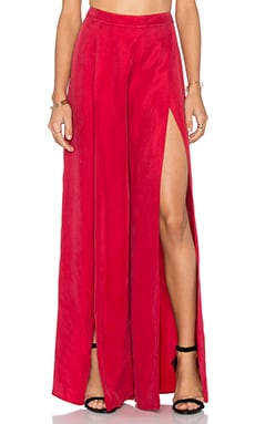 THE JETSET DIARIES La Paz Pant in Crimson