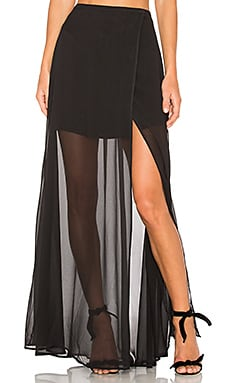 THE JETSET DIARIES Bonita Wrap Skirt in Black