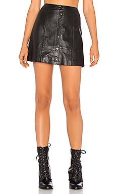 Saraya Leather Skirt