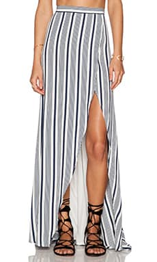 THE JETSET DIARIES Her Allies Maxi Skirt in Stripe Print