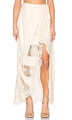 THE JETSET DIARIES Verona Maxi Skirt in Blush