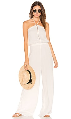 Golden Island Jumpsuit in Ivory