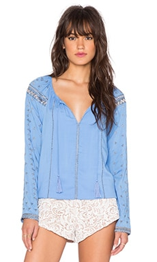 THE JETSET DIARIES Stevie Top in Vista Blue