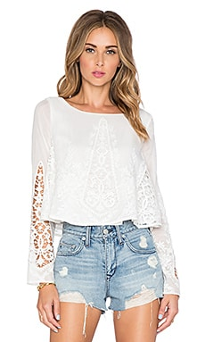 THE JETSET DIARIES Gypsy Blouse in Ivory