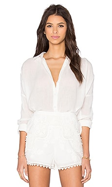 THE JETSET DIARIES Morning Swim Blouse in Ivory