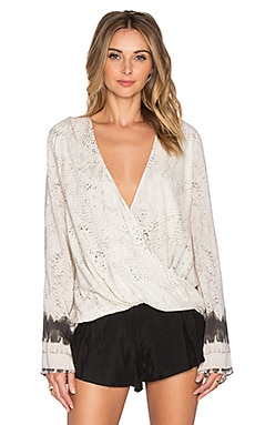 THE JETSET DIARIES Python Wrap Top in Python Print