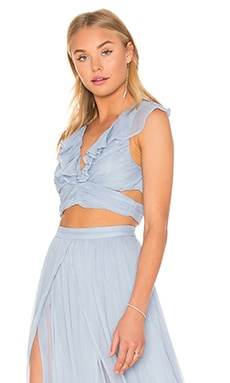 THE JETSET DIARIES x Revolve Prima Crop Top in Blue Lagoon