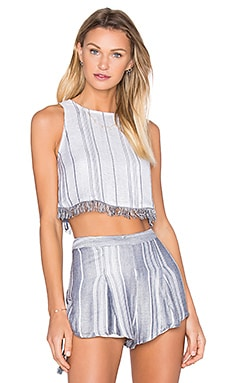 THE JETSET DIARIES Las Rayas Crop Top in Light Stripe
