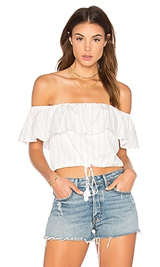 Anika Crop Top in Ivory
