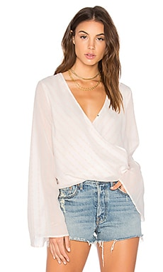 Sanja Wrap Top in Tie Dye Stripe