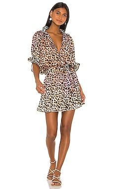 Cotton Tie Dye Leopard Dress juliet dunn $323