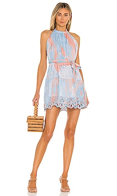 Marble Halterneck Mini Dress juliet dunn $365