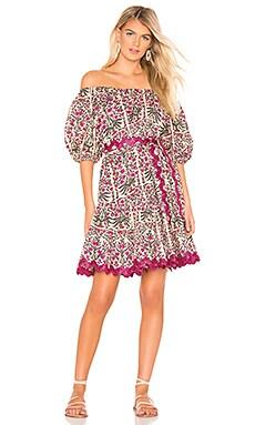 Botanical Print Boho Dress juliet dunn $282 NEW ARRIVAL