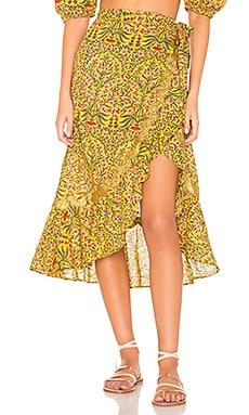 Botanical Wrap Skirt juliet dunn $189