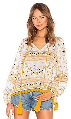 Tribal Print Swing Top with Tassels juliet dunn $179