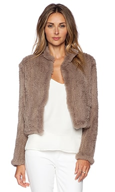 June Sheared Rabbit Fur Jacket in Dust