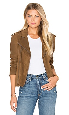 Vintage Suede MC Jacket in Bark