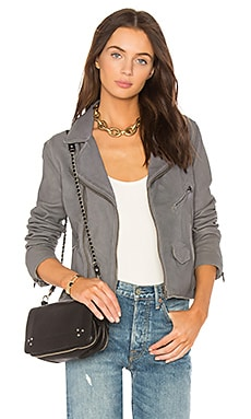 Stonewash Vintage Moto Leather Jacket