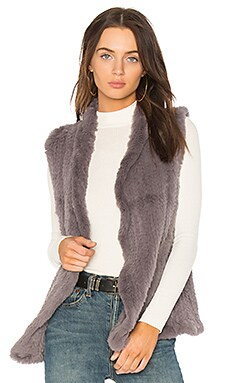 Classic Rabbit Fur Shawl Vest
