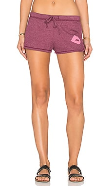 Junk Food Kiss Jogger Short in Cranberry