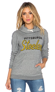 Junk Food Steelers Sunday Hoodie in Heather Grey