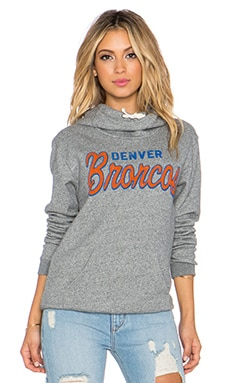 Junk Food Broncos Sunday Hoodie in Heather Grey