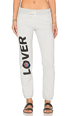 Junk Food Lover Sweatpant in Light Heather Grey