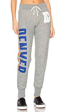 Denver Broncos Sweat Pant en Gris Chiné