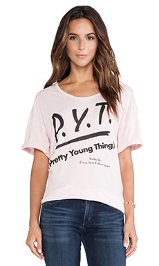 Junk Food P.Y.T. Tee in Shell