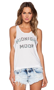 Junk Food Midnight Moon Tank in Electric White
