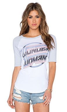Junk Food Wonder Woman Tee in Electric White & Moody Blue