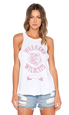 Junk Food Weekend Wildcats Tank in Electric White
