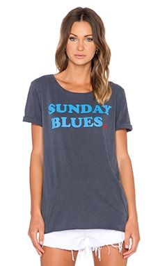 Junk Food Sunday Blues Tee in Jet Black
