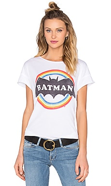 Junk Food Batman Tee in Electric White