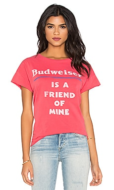 Junk Food Budweiser Is A Friend Of Mine Tee in Licorice