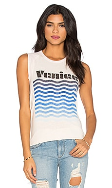 Junk Food Venice Tank in Ivory & Shell